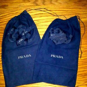 2 Prada dust bags Prada ribbon